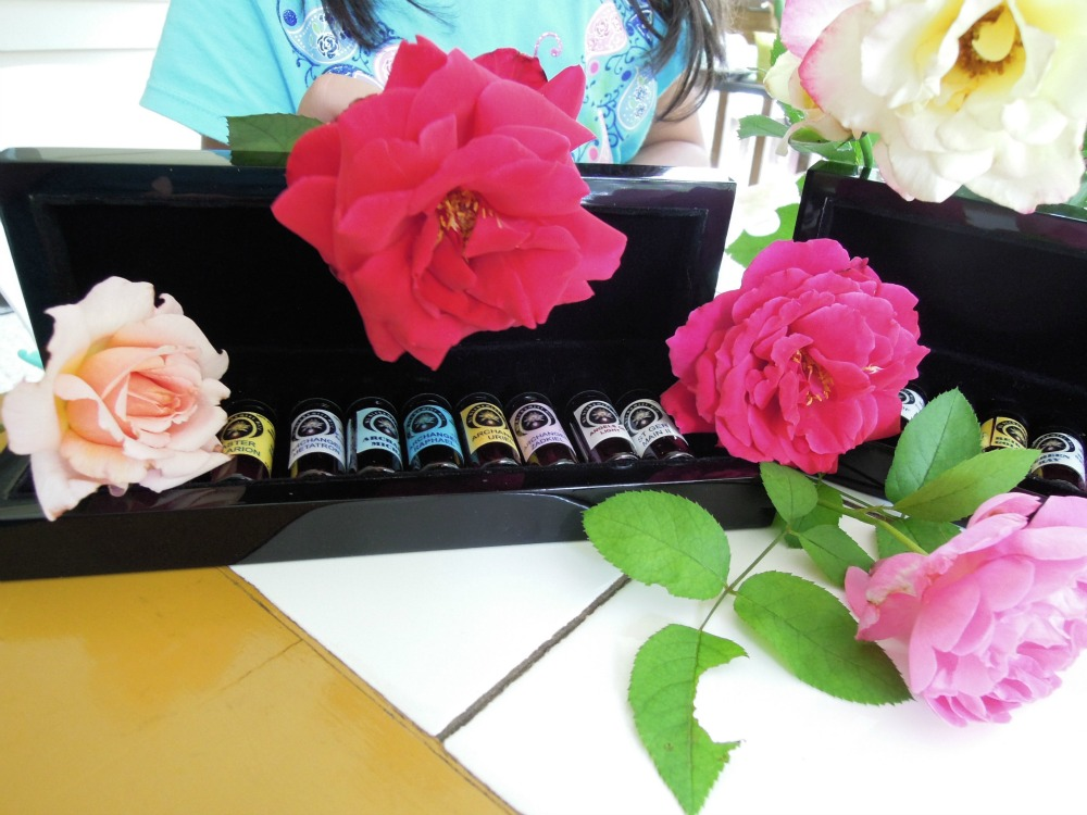 Roses and Alchemist Oils in Black Lacquer Wooden Boxes ~ Stunning!